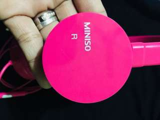 Miniso headset hot pink
