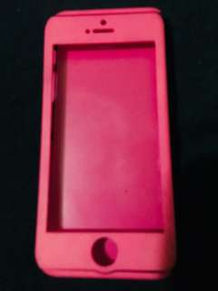 Iphone 5s hot pink case