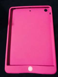 Ipad mini 1,2 rubber case pink