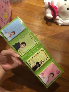 Song Joong Ki signed sticky notes
