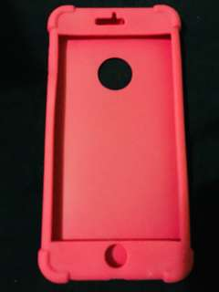 Iphone 6plus rubbercase pink/dark blue buy all )