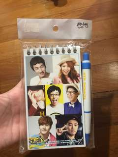 running man ring notebook + pen