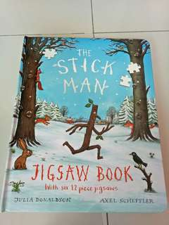 buku anak impor judul the stick man jigsaw book by julia donaldson