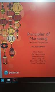 Principles of Marketing: An Asian Perspective  (Hard copy and E-book)