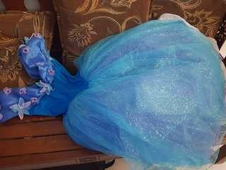 🚚 Princess Blue Dress Cinderella #caroupay Birthday Party dress FOC local Shipping
