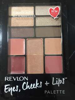 ORIGINAL REVLON EYE AND CHEECK PALLETS  WITH LIPSTICK