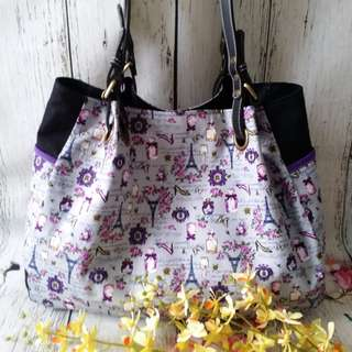 Handmade Carry All Wrinkle Shoulder Bag