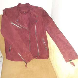 Mango Genuine Suede Leather Jacket/Jaket Kulit Original Preloved/Second