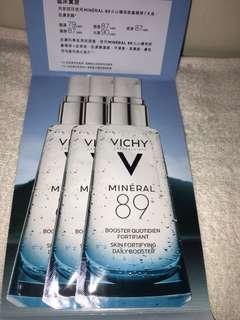 包郵vichy 現金優惠卷+ Vichy mineral 89 火山礦物能量精華 sample
