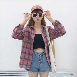 Women Pink checkered Blouse