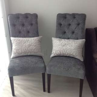 Decorative accent chairs (never sat on)