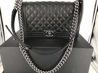 Brand New Chanel Medium Caviar Black Silver Hardware 2018