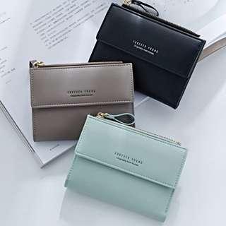Forever Young Short Vertical Wallet Coin with Zipper