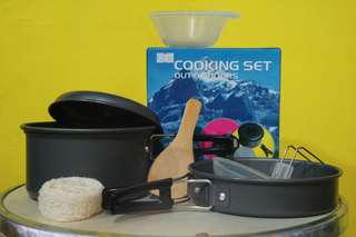 Cooking set ds200 cooking set ds-200 cooking set ds 200 panci camping alat masak camping outdoor nesting misting hiking hunting traveling masak di gunung