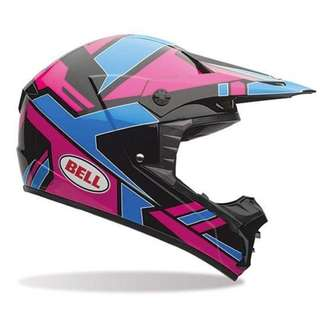 Bell SX-1 SIZE X-LARGE ONLY SX1 SX 1 Adult Off Road Motorbike Motorcycle Motor Cross Helmet D.O.T.-Certified e-Scooter e Scooter electric scooter helmet PINK BLUE BLACK