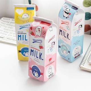 Cute Milk Box Pencil Case