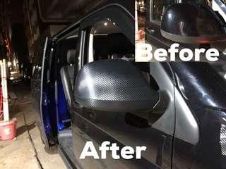 碳纖維汽車側鏡貼膜