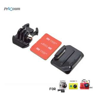 Proocam Pro-J013 Gopro Helmet Curved Surface & Mount for Gopro Hero 6,5,4,3,2,1 Action Camera