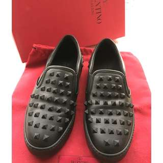 Valentino Garavani    'Rockstud' Leather Sneakers Shoes      @@Size 36-1/2  Made in Italy@@.....
