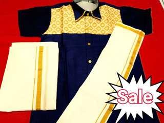 Veshti dhoti and shirt set