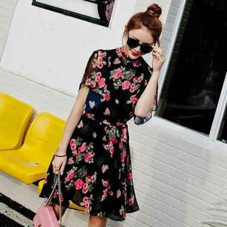 🌼Floral Chiffon Dress