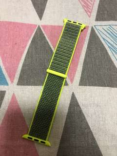 100% Apple Orignial 38mm Apple Watch Nike+ Yellow Grey Sport Loop