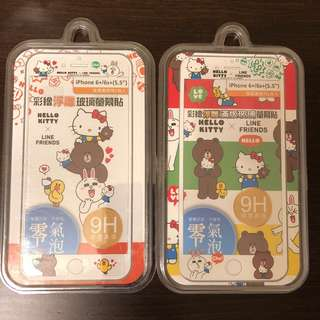 HELLO KITTY×LINE FRIENDS iphone 螢幕貼