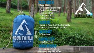 Sleeping bag polar softsteel terhangat sb sleepingbag selimut tidur camping outdoor lapangan waterproof model tikar ultralight