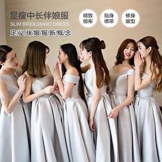 🚚 伴娘禮服2018新款韓版夏季伴娘服姐妹裙長款畢業小禮服女 預購