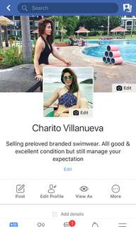 Pls add may Fb account for more swimwear