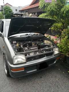 Bonnet and hood mira kancil