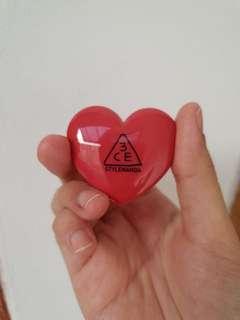 3CE Heart Pot Lip - Woody Rose