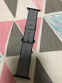 100% Apple Orignial Apple Watch 42mm Black Woven Nylon - 黑色菱格尼龍錶帶