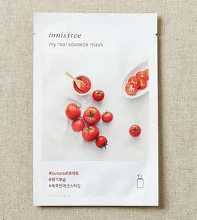 Innisfree my real squeeze mask sheet tomato