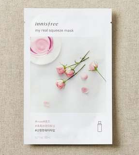 Innisfree my real squeeze mask sheet rose