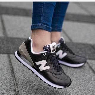 🚚 保證正品 全新 NEW BALANCE WL574RAA us7.5 38黑 皮革 慢跑鞋 nb574
