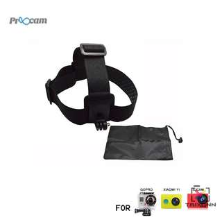 Proocam Pro-J023 Elastic Adjustable Head Strap with anti-slide Glue with Storage Bag for Gopro Hero , Sjcam , Mi Yi etc
