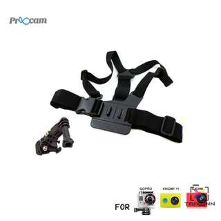 Proocam Pro-J025 Chest Body Strap with 3-way adjustment base for Gopro Hero , SJCAM, Miyi Camera