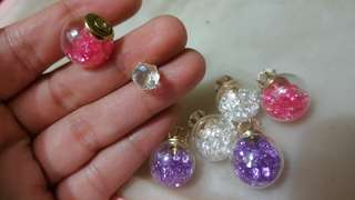 All Crystal earrings 波兒水晶耳環