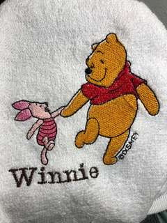 Winnie the Pooh Embroidery towel (kids birthday goodie bag, Teacher's Day gift, corporate gift)
