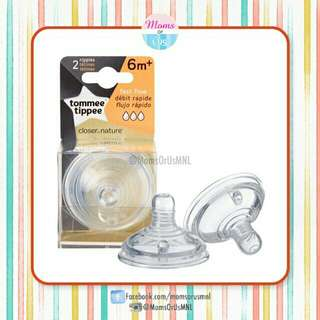 ‼️NEW‼️ TOMMEE TIPPEE Closer to Nature Fast Flow Nipples 6m+