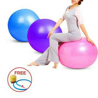 Gym Yoga Ball Fitness FREE Pompa Angin