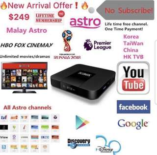 1 Time Payment TV BOX UHD 4K 👍Lifetime iptv Channel Subscription Smooth And No Lagging Stable