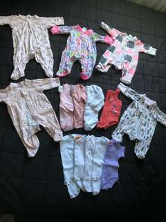 Baby girls Nb-000 bulk lot clothes