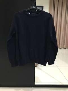 Daniel Hechter Pure Wool Sweater Dark Blue (Size 3/L)