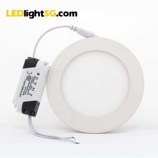 PROMO 10 units 6W LED Flat Panel Downlight 1yr warranty Round Square (White/Warm White)