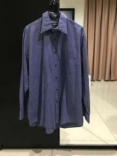 Original Aquascutum Blue Shirt (Size L up to XL)