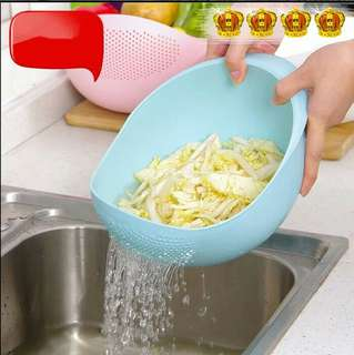 Multifunction Bowl Wadah Cuci Beras Sayur Serbaguna