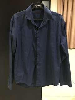 Executive Long Sleeves Blue Shirt (Size 17)