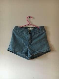 Denim Roller Highwaisted Shorts